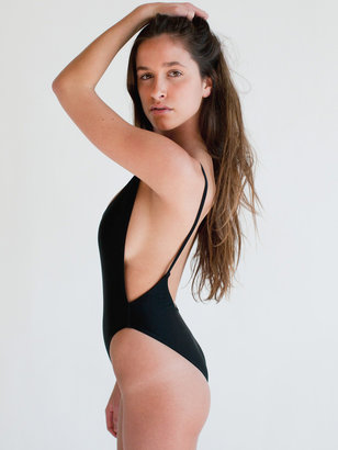 American Apparel The Nylon Tricot High-Cut One-Piece