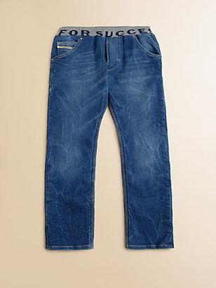 Diesel Little Boy's Ribbed Waist Straight Leg Jeans