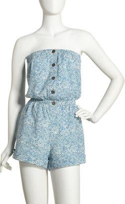 Patterson J. Kincaid Floral-Print Jumpsuit, Blue