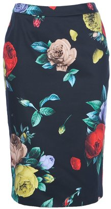 Love Moschino floral pencil skirt