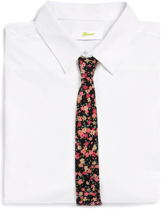 Topman Black And Red Floral 5cm Tie