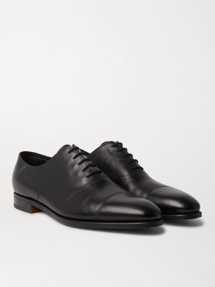 John Lobb City Ii Burnished-Leather Oxford Shoes