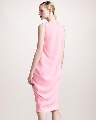 Jil Sander Architectural Crepe Dress