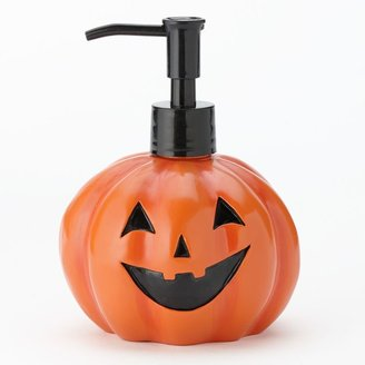 Halloween light-up pumpkin soap pump