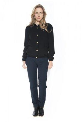 Mademoiselle Tara Gold Button Jacket