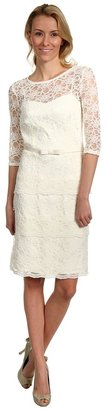Tahari by Arthur S. Levine Tahari by ASL - Yvonne Lace Dress (Ivory) - Apparel
