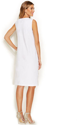 Alfani Sleeveless Tiered Lace Shift Dress
