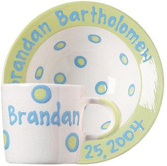 Personalized Dot Bowl & Cup Set