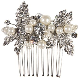 Nina Briella Pearl and Crystal Hair Comb (Ivory/Pearl) - Accessories
