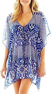JCPenney Colorplay Print Butterfly Kimono Cover-Up