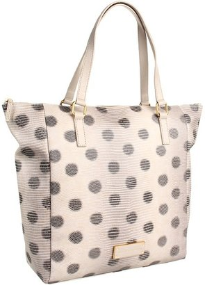 Marc by Marc Jacobs Take Me Embossed Lizzie Dots Tote (Oatmeal Multi) - Bags and Luggage
