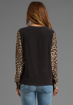 Equipment Underground Leopard Liam with Printed Sleeves