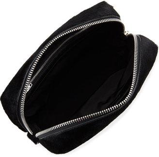 Alexander Wang Prisma Rhodium-Hardware Calf-Hair Washbag, Black