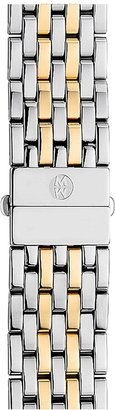 Michele Deco 18mm Two-Tone Bracelet Watchband