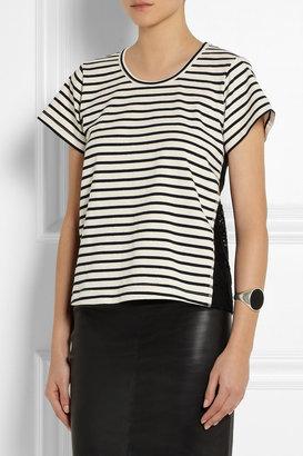 Sea Lace-backed striped cotton-jersey T-shirt