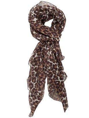 Luisa Via Roma Chiffon Leopard Print Scarf