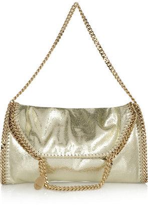 Stella McCartney The Falabella convertible metallic faux leather shoulder bag