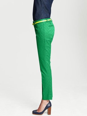 Banana Republic Hampton-Fit Emerald Medallion Print Crop