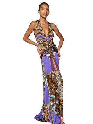 Etro Printed Viscose Jersey Long Dress