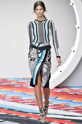 Peter Pilotto Isaac Skirt in Sphere Blue