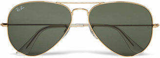 Ray-Ban Aviator Gold-Tone Sunglasses $150 thestylecure.com