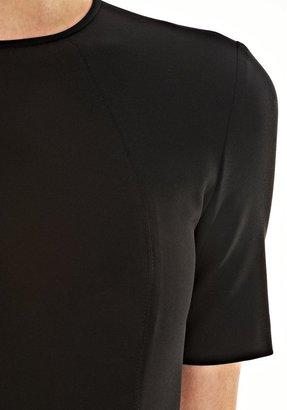 Alexander Wang Tech Suiting Short Sleevefitted Dress