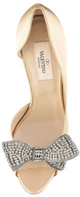 Valentino Jewelry Couture-Bow d'Orsay Pump