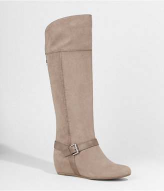 Express Tall Buckled Wedge Boot
