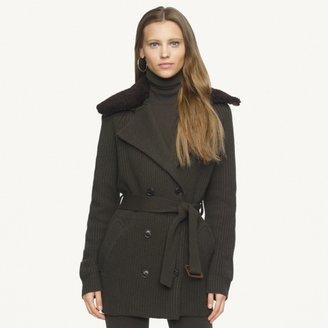 Ralph Lauren Black Label Shearling-Collar Jacket