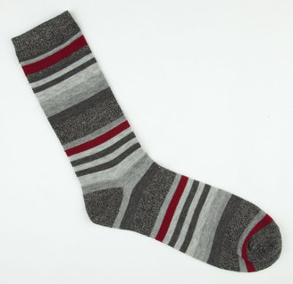 BLUE CROWN Stripe Marl Mens Crew Socks