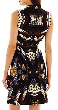 R&K Originals® V-Neck Print Dress - Petite
