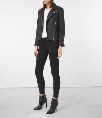 AllSaints Papin Leather Biker Jacket