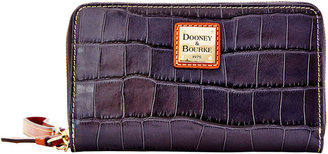 Dooney & Bourke Croco Zip Around Phone Wristlet