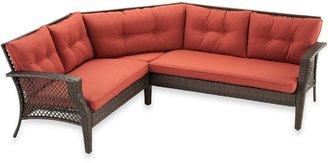 Bed Bath & Beyond Wicker Deep Seating 3-Piece Sectional Sofa with Cinnamon Cushions
