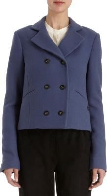 Holmes & Yang Cropped Double Breasted Peacoat