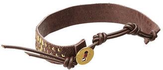 """Chan Luu 6"""" Yellow Gold/Brown Bracelet"""