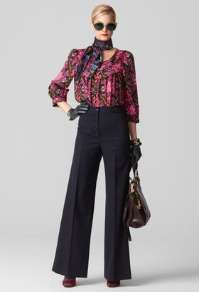 Milly Pants - High Waist & Wide Leg Button Tab Pant