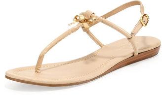 Kate Spade Tracie Patent Bow Thong Sandal, Powder