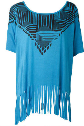 Alloy Uptown Vibe Placement Print Fringe