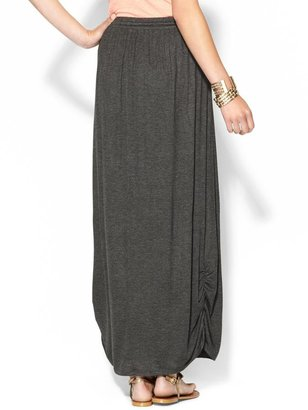 Juicy Couture Olive & Oak Knit Maxi Skirt