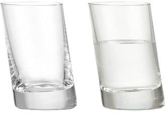 Crate & Barrel Slant Shot Glasses Set of Four