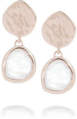 Monica Vinader Boucles d'oreilles en plaqué or rose et pierres de lune Siren