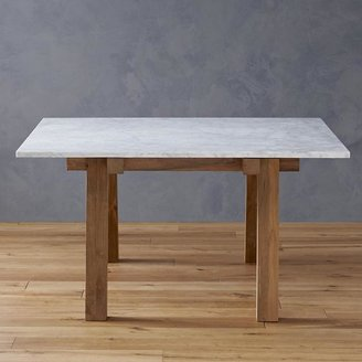 Crate & Barrel Riviera Rectangular Marble Top Dining Table