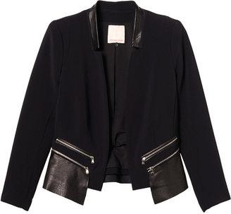Rebecca Taylor Leather Trim Jacket