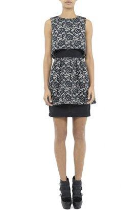 Nicole Miller Perry Mesh Flower Dress