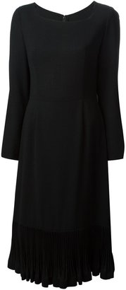 LANVIN Pre-Owned Pleated Hem Dress