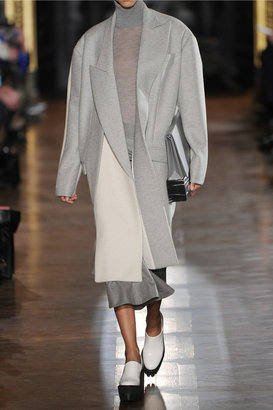Stella McCartney Curtis oversized two-tone wool-blend felt coat