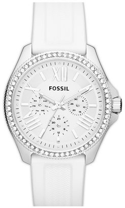 Fossil 'Retro Traveler' Multifunction Silicone Strap Watch, 40mm