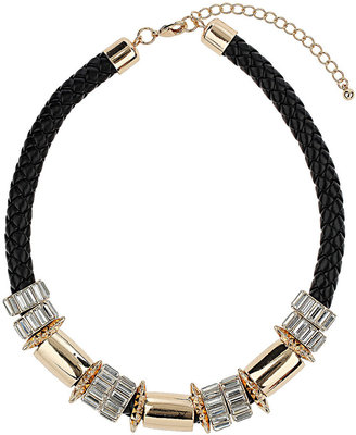 Topshop Premium Plait and Rhinestone Necklace