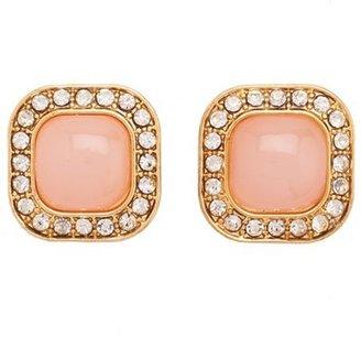 Charlotte Russe Rhinestone Border Stud Earrings